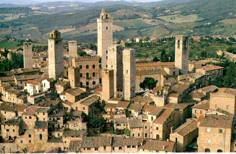 View of San Gimignano