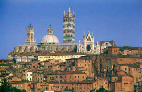 View of Siena and the Duomo